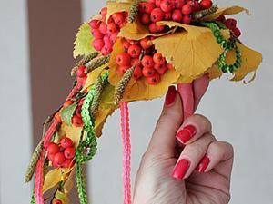 """Воплощаем идею свадебного букета """"Золотая осень"""". Ярмарка Мастеров - ручная работа, handmade."""