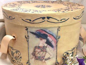 Шляпная коробка — ее жизнь в интерьере. Ярмарка Мастеров - ручная работа, handmade.