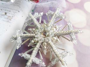 Видео-обзор броши  «Зимнее чудо». Ярмарка Мастеров - ручная работа, handmade.