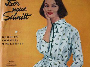 Schwabe der neue Schnitt  — журнал  мод 4/1958. Ярмарка Мастеров - ручная работа, handmade.