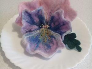 Создаем цветок из шерсти: анютины глазки. Ярмарка Мастеров - ручная работа, handmade.