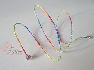 Плетем радужный витой шнур для украшений. Ярмарка Мастеров - ручная работа, handmade.