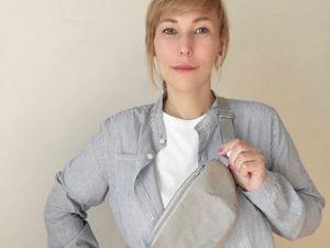 Шьем поясную сумку из тонкого швейного крафта. Ярмарка Мастеров - ручная работа, handmade.