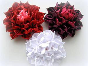 МК цветка из ткани в технике канзаши. Ярмарка Мастеров - ручная работа, handmade.