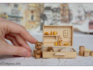 Чемоданчик-дом для деревянного мишки. Ярмарка Мастеров - ручная работа, handmade.