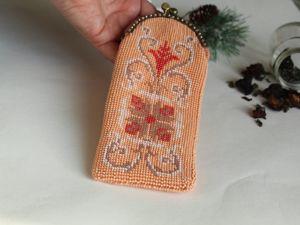 Вяжем очечник  «Яркий цветок». Ярмарка Мастеров - ручная работа, handmade.