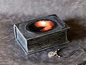 "Шкатулка-фолиант ""Чёрный замок"". Ярмарка Мастеров - ручная работа, handmade."