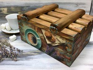 Изготавливаем стильный кухонный короб в смешанной технике. Ярмарка Мастеров - ручная работа, handmade.