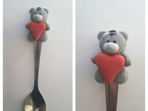 Лепим влюбленного мишку на ложечку. Ярмарка Мастеров - ручная работа, handmade.