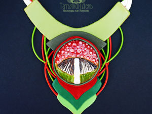 Примерка колье  «Грибная пора». Ярмарка Мастеров - ручная работа, handmade.
