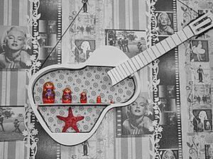 Красивый аккорд: превращаем старую гитару в оригинальную полочку. Ярмарка Мастеров - ручная работа, handmade.