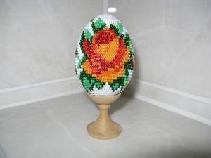 Плетение пасхального яйца из бисера в технике «бисерное ткачество». Ярмарка Мастеров - ручная работа, handmade.