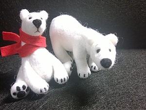 Белый медвеженок. Ярмарка Мастеров - ручная работа, handmade.