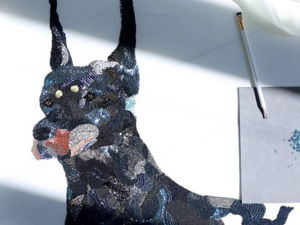 Вышивка масштабного панно с собакой Chengyen Lee. Ярмарка Мастеров - ручная работа, handmade.