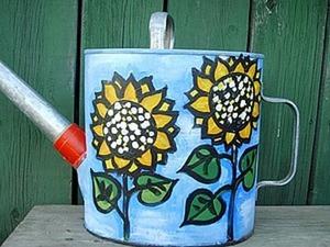 Лейка садовая «Подсолнухи». Ярмарка Мастеров - ручная работа, handmade.