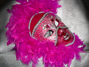 "Венецианская маска ""Фуксия"". Ярмарка Мастеров - ручная работа, handmade."
