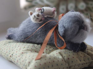 Новая парочка кот и мышка в магазине!. Ярмарка Мастеров - ручная работа, handmade.