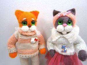 Котики, еще не нашедшие свою семью. Ярмарка Мастеров - ручная работа, handmade.