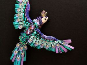 Дополнительные фотографии броши  «Королевский попугай». Ярмарка Мастеров - ручная работа, handmade.