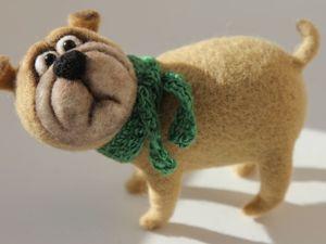 Рождественский аукцион на собачку из шерсти!!! с 04.01 по 07.04.!!!. Ярмарка Мастеров - ручная работа, handmade.