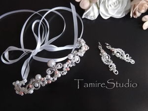 How to Easily Make a Tiara of Wire and Beads. Livemaster - handmade