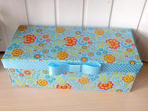 Делаем милую подарочную коробку из доступных материалов. Ярмарка Мастеров - ручная работа, handmade.