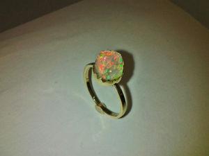 Видео: Кольцо  «КристалЛ» .Золото. Опал. Ярмарка Мастеров - ручная работа, handmade.