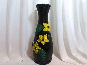 Делаем вазу из стеклянной бутылки: видео мастер-класс. Ярмарка Мастеров - ручная работа, handmade.