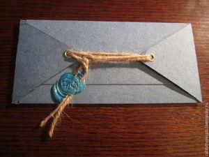 Подарочный конверт для денег из картона. Ярмарка Мастеров - ручная работа, handmade.