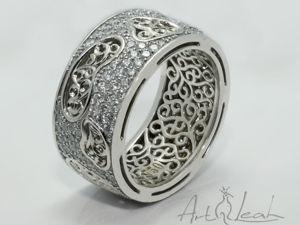 Мужское стильное кольцо с бриллиантами  «Rich man world» . Ярмарка Мастеров - ручная работа, handmade.