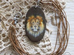 Кулон со львом. Ярмарка Мастеров - ручная работа, handmade.