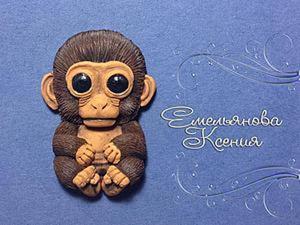 Лепим симпатичную обезьянку из полимерной глины. Ярмарка Мастеров - ручная работа, handmade.