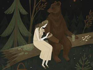 Заблудиться в лесу и больше не найти дорогу: ночные иллюстрации Александры Дворниковой. Ярмарка Мастеров - ручная работа, handmade.
