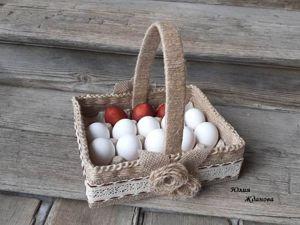Делаем пасхальную корзинку под яйца. Ярмарка Мастеров - ручная работа, handmade.