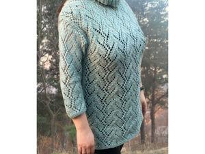 Вяжем ажурный пуловер спицами. Ярмарка Мастеров - ручная работа, handmade.