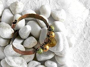 Куем браслет из медной проволоки. Ярмарка Мастеров - ручная работа, handmade.