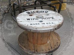 Из старой катушки -- в крафтовый стол!. Ярмарка Мастеров - ручная работа, handmade.