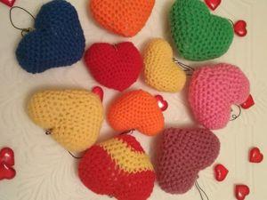 Вязаные сердечки на 14 февраля!. Ярмарка Мастеров - ручная работа, handmade.