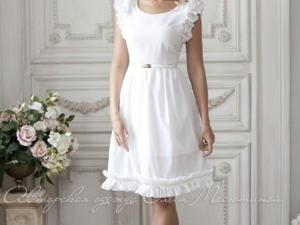 Аукцион на легкое белое платье! Старт 2000 руб.!. Ярмарка Мастеров - ручная работа, handmade.