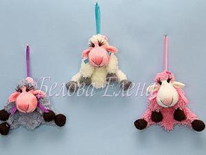"""Вязание """"Мини-овечки"""" на спицах. Ярмарка Мастеров - ручная работа, handmade."""