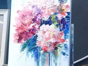 Пишем цветы мастихином. Ярмарка Мастеров - ручная работа, handmade.