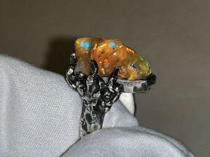 Видео: Кольцо  «лАврик» .Серебро. Опал. Ярмарка Мастеров - ручная работа, handmade.