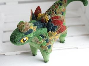 Делаем фетровые перышки-чешую для валяного дракончика. Ярмарка Мастеров - ручная работа, handmade.