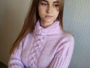 Фотоотчет для свитера из мохера Сладкие грезы. Ярмарка Мастеров - ручная работа, handmade.