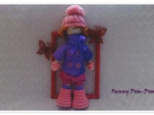 Мастер-класс: вяжем крючком куклу в помпонных сапожках. Ярмарка Мастеров - ручная работа, handmade.