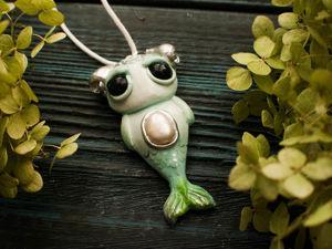 Кулон с жемчугом  «Дух лесных рек». Ярмарка Мастеров - ручная работа, handmade.