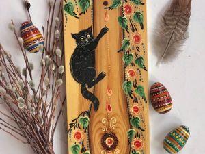 Март на исходе, котик на дереве. Ярмарка Мастеров - ручная работа, handmade.