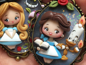 Once upon a Time in a Polymer Clay Fairy Tale: Lovely Jewellery Inspired by Favorite Stories. Livemaster - handmade