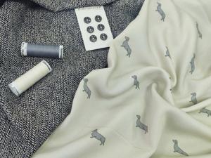 Костюмная ткань + штапель. Ярмарка Мастеров - ручная работа, handmade.