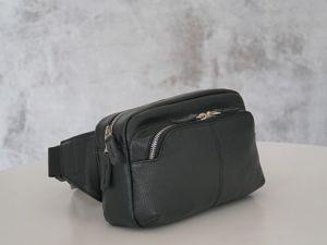 Bидео обзор мужской поясной сумки «Oscar». Ярмарка Мастеров - ручная работа, handmade.